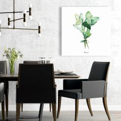 Canvas 24 x 24 - Tied up basil leaves bundle - en