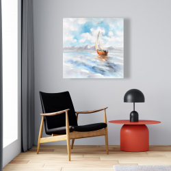 Canvas 24 x 24 - Sailboat landscape