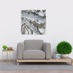 Toile 24 x 24 - Géode abstraite