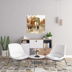 Canvas 24 x 24 - Arc de triomphe in autumn