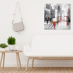 Canvas 24 x 24 - Abstract cloudy city street