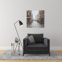 Canvas 24 x 24 - City rain