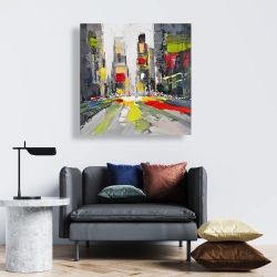 Canvas 24 x 24 - Abstract texturized cityscape