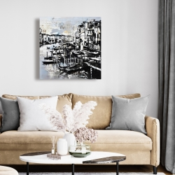 Canvas 24 x 24 - Abstract venise port