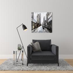 Canvas 24 x 24 - Gray gloomy street