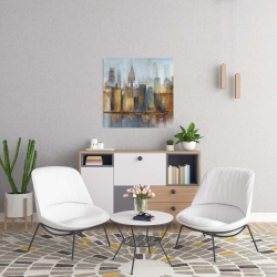 Canvas 24 x 24 - Cityscape with chrysler building
