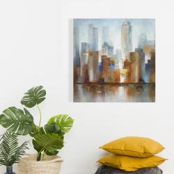 Canvas 24 x 24 - Cityscape in the fog
