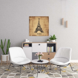 Canvas 24 x 24 - Eiffel tower illustration