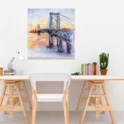 Canvas 24 x 24 - Abstract brooklyn bridge