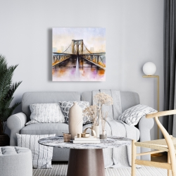 Canvas 24 x 24 - Colorful brooklyn bridge
