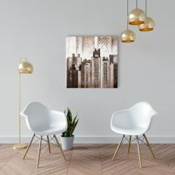 Canvas 24 x 24 - Square city