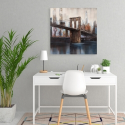 Canvas 24 x 24 - Urban brooklyn bridge