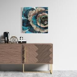 Canvas 24 x 24 - Blue flower montage