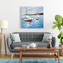 Canvas 24 x 24 - Two boats on the water