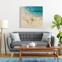 Canvas 24 x 24 - Summer crowd at the beach