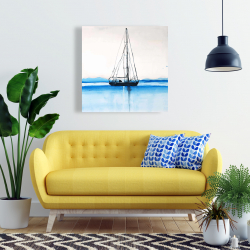 Canvas 24 x 24 - Sailboat on a calm water
