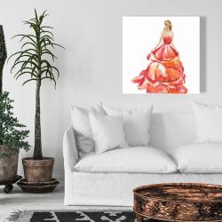 Canvas 24 x 24 - Beautiful red prom dress