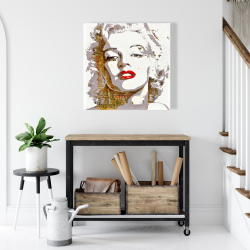 Canvas 24 x 24 - Marilyn monroe with typography