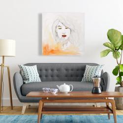 Canvas 24 x 24 - Portrait in watercolor