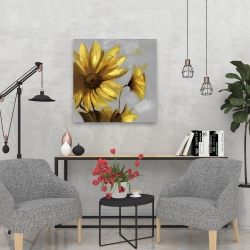 Canvas 24 x 24 - Mountain arnica flowers