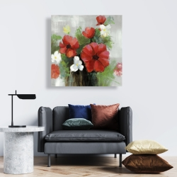 Canvas 24 x 24 - Abstract wild flowers bundle