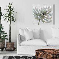 Canvas 24 x 24 - White chrysanthemum