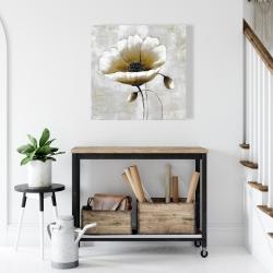 Canvas 24 x 24 - Modern beige flower