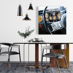 Canvas 24 x 24 - Vintage car interior