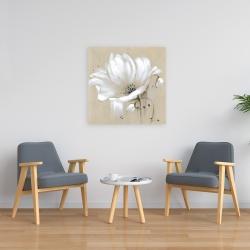 Canvas 24 x 24 - White abstract wild flower