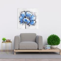 Canvas 24 x 24 - Abstract blue petals