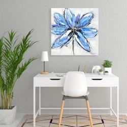 Canvas 24 x 24 - Blue flower