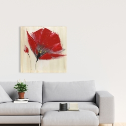 Canvas 24 x 24 - Two red flowers