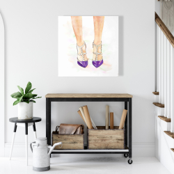 Canvas 24 x 24 - Purple studded high heels