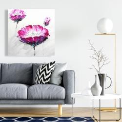 Canvas 24 x 24 - Pink wild flowers