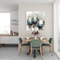 Canvas 24 x 24 - Three abstract tulips