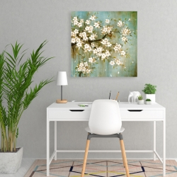 Canvas 24 x 24 - White cherry blossom