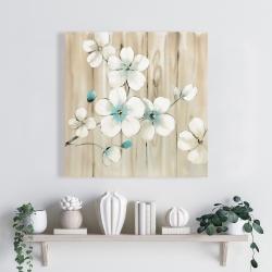 Canvas 24 x 24 - Cherry blossom in white