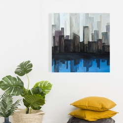 Canvas 24 x 24 - View of a blue city