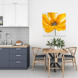Canvas 24 x 24 - Big yellow flower