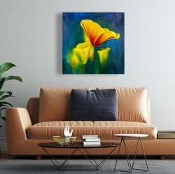 Canvas 24 x 24 - Beautiful colorful flowers