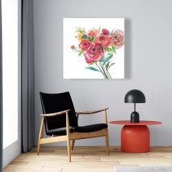 Canvas 24 x 24 - Watercolor bouquet of flowers