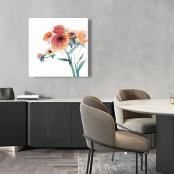Canvas 24 x 24 - Watercolor flowers