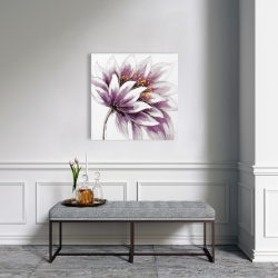 Canvas 24 x 24 - Purple flower