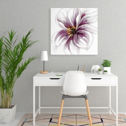 Canvas 24 x 24 - Purple orchid