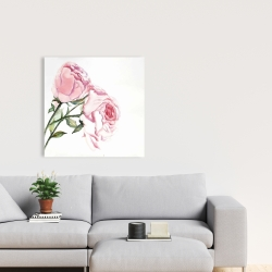 Canvas 24 x 24 - Watercolor pink roses