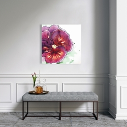 Canvas 24 x 24 - Blossoming orchid with wavy petals