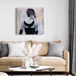 Canvas 24 x 24 - Actress audrey hepburn