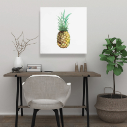 Canvas 24 x 24 - Watercolor pineapple