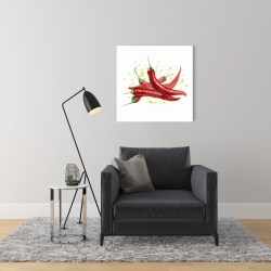 Canvas 24 x 24 - Red hot peppers