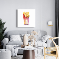 Canvas 24 x 24 - Watercolor french fries